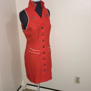 Vintage 70's button down Stewardess Dress Small